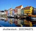 nyhavn  popular tourist... | Shutterstock . vector #1031546371