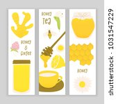 honey and ginger design concept ... | Shutterstock .eps vector #1031547229
