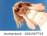 summer  happiness and lifestyle ... | Shutterstock . vector #1031547715