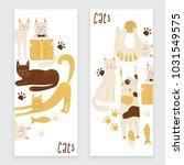 cats vector banner concept ... | Shutterstock .eps vector #1031549575