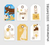 cats vector tag concept ... | Shutterstock .eps vector #1031549581