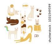 cats vector concept  friendly... | Shutterstock .eps vector #1031549599