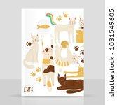 cats vector concept  friendly... | Shutterstock .eps vector #1031549605