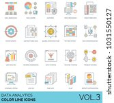 data analytics color line icons.... | Shutterstock .eps vector #1031550127