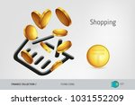 shopping basket icon with...   Shutterstock .eps vector #1031552209