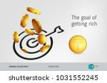 target icon with flying...   Shutterstock .eps vector #1031552245
