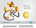 pie chart icon with flying...   Shutterstock .eps vector #1031552281