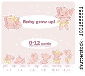 baby growth infographics. child ... | Shutterstock .eps vector #1031555551