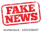 Fake News. Vector Rubber Stamp.