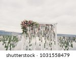 outdoor wedding ceremony | Shutterstock . vector #1031558479