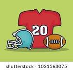 american football equipment | Shutterstock .eps vector #1031563075
