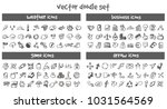 vector doodle icons set. stock... | Shutterstock .eps vector #1031564569