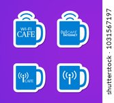 set of blue cups logo. internet ...