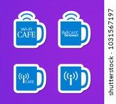 set of blue cups logo. internet ...