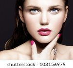 attractive young model with... | Shutterstock . vector #103156979