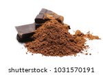 chocolate bars with cocoa... | Shutterstock . vector #1031570191