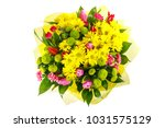 a colorful bouquet of pink and... | Shutterstock . vector #1031575129