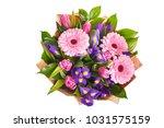bouquet of pink gerberas ... | Shutterstock . vector #1031575159