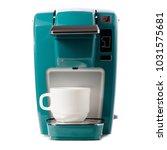 capsular electric coffee... | Shutterstock . vector #1031575681