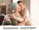 young woman visiting her mother ... | Shutterstock . vector #1031575897
