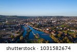 Aerial Shot Of Exeter  City In...