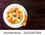 an overhead photo of a plate of ... | Shutterstock . vector #1031587585