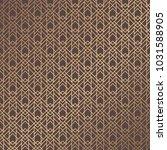 art deco pattern. golden... | Shutterstock .eps vector #1031588905