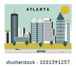 atlanta city in georgia usa.  | Shutterstock . vector #1031591257