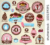 vintage ice cream label set... | Shutterstock .eps vector #103159391