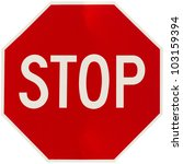 stop sign | Shutterstock . vector #103159394