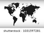world map vector. | Shutterstock .eps vector #1031597281