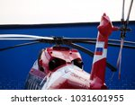 modern helicopter with rotor... | Shutterstock . vector #1031601955