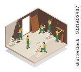 home renovation remodeling... | Shutterstock .eps vector #1031603437