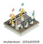smart industry intelligent... | Shutterstock .eps vector #1031603539