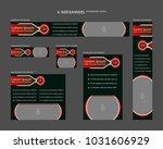 six web banners standard sizes...   Shutterstock .eps vector #1031606929