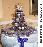 cup cake wedding cake | Shutterstock . vector #1031608291
