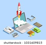financial technology design... | Shutterstock .eps vector #1031609815