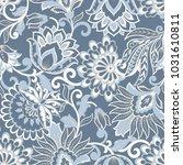 floral seamless pattern. damask ... | Shutterstock .eps vector #1031610811
