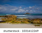 on the beach in playa del... | Shutterstock . vector #1031612269