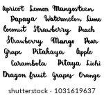 lettering fruit names  modern... | Shutterstock .eps vector #1031619637