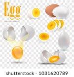 egg  set of white realistic...   Shutterstock .eps vector #1031620789