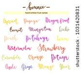 modern calligraphy fruit names  ... | Shutterstock .eps vector #1031620831