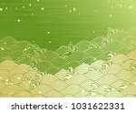 Green Background Of Japanese...
