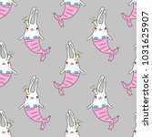 seamless pattern with magic... | Shutterstock .eps vector #1031625907