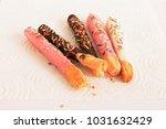soft focus on sweet chocolate... | Shutterstock . vector #1031632429