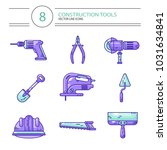 vector colored line style icons ... | Shutterstock .eps vector #1031634841