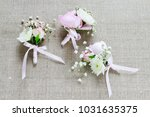 wedding boutonniere with pink... | Shutterstock . vector #1031635375