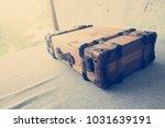 old suitcase. travel bag... | Shutterstock . vector #1031639191