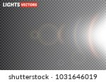 glow light effect. star burst... | Shutterstock .eps vector #1031646019