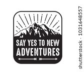 adventure sayings   quotes. 100 ... | Shutterstock .eps vector #1031648557
